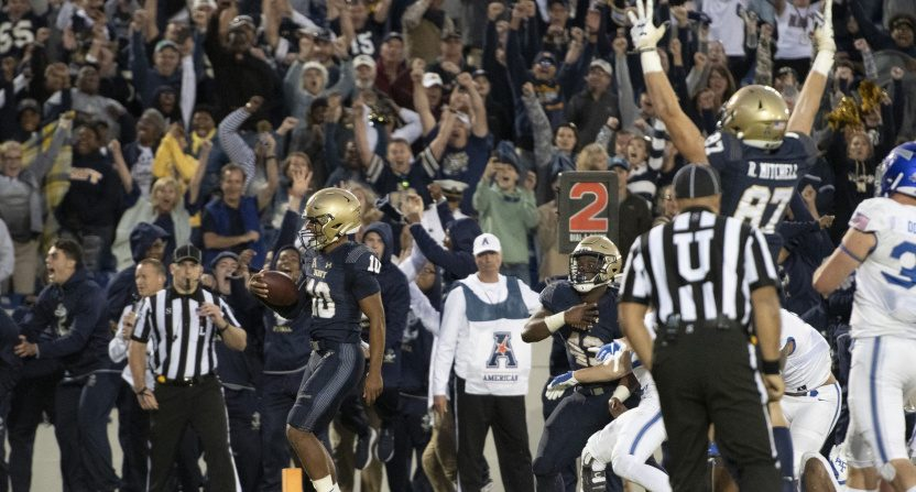 Navy's win against Air Force.
