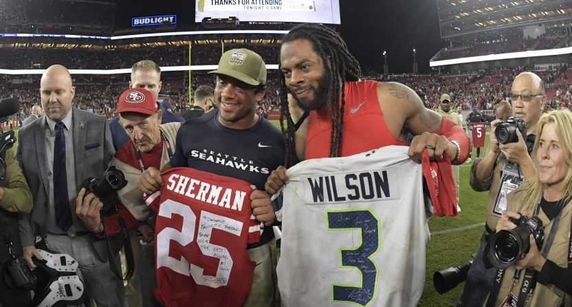 The Nov. 11 NFL matchup between the Seahawks and 49ers. The rematch is one of the most anticipated remaining games.