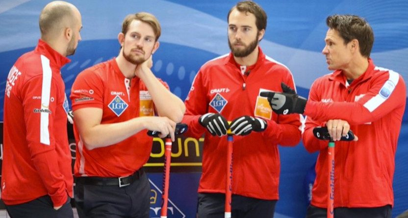 The Norwegian curling team.