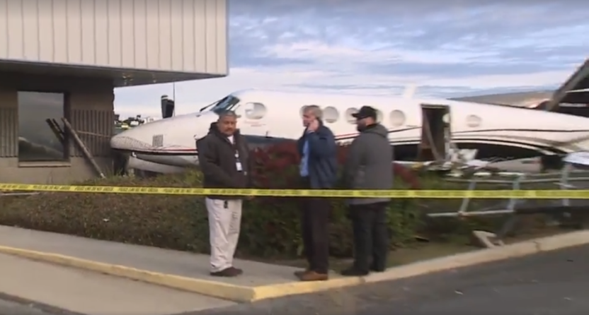 A 17-year-old girl snuck into this plane and crashed it into an airport building.