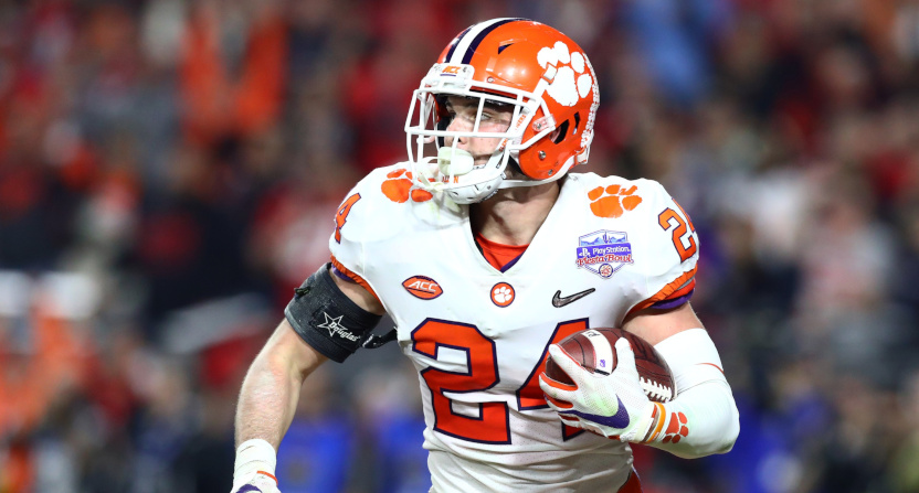 Clemson safety Nolan Turner had a huge late interception.