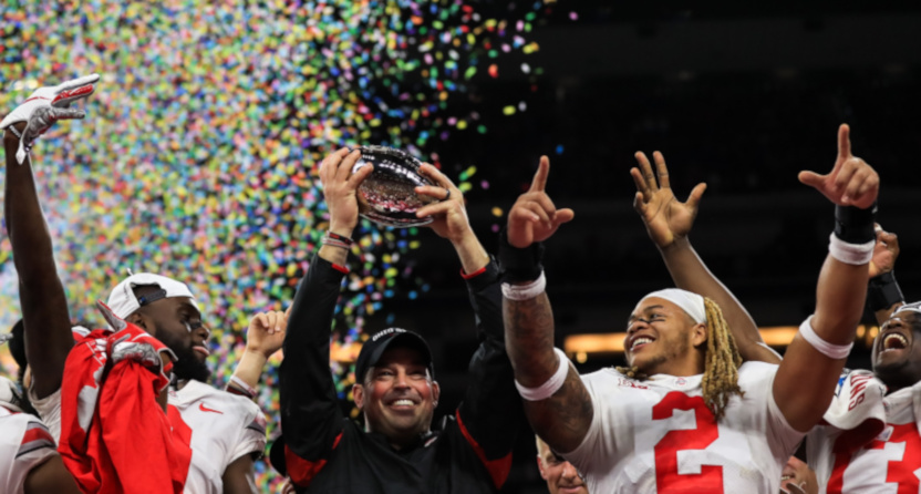 Ohio State after winning the 2019 Big Ten championship.