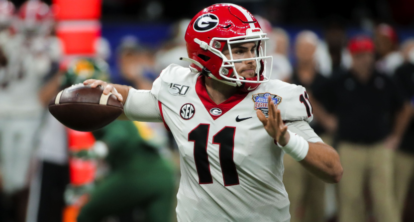 Georgia QB Jake Fromm in the Sugar Bowl in 2020.