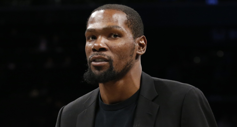 Kevin Durant after the Nets' January 2020 game against the Oklahoma City Thunder.