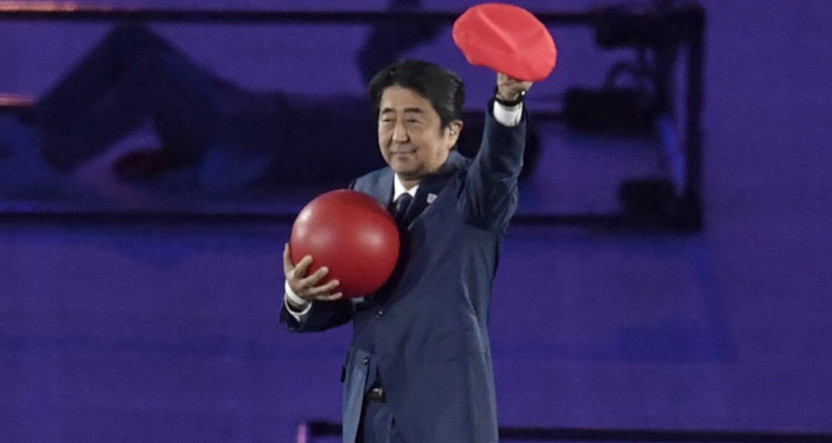 Japanese prime minister Shinzo Abe at the 2016 Rio Olympics.