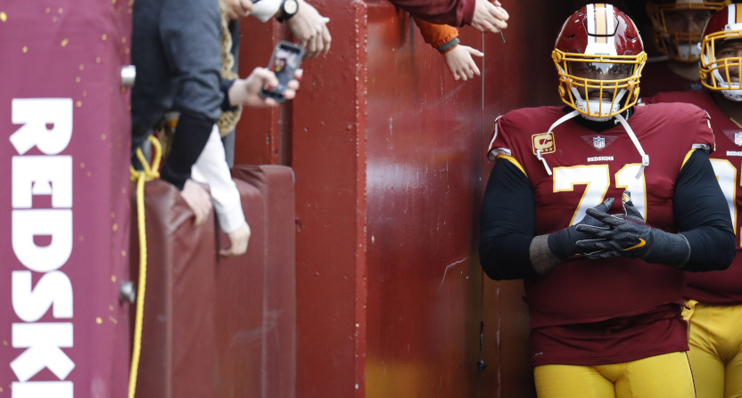 Trent Williams with the Redskins.