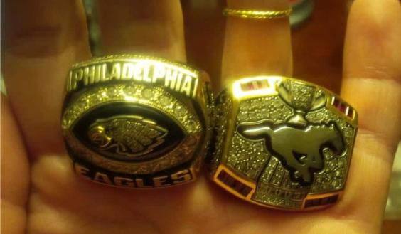 Mike Labinjo's missing rings.