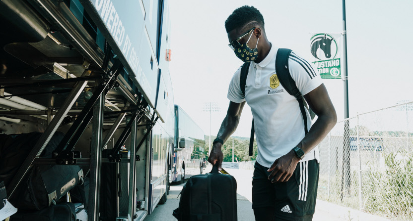 A photo from Nashville SC upon arrival in Orlando. The team later was pulled out of the MLS is Back tournament.