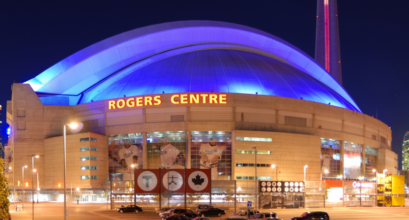 The Blue Jays' Toronto home, the Rogers Centre.