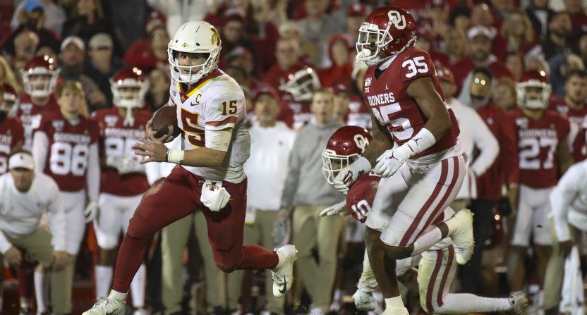 Iowa State quarterback Brock Purdy gives the Cyclones a chance to be a factor in the Big 12 in 2020. Photo: USA TODAY Sports