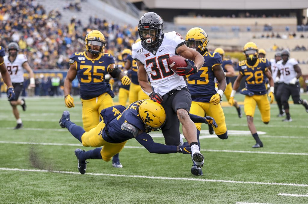 Oklahoma State running back Chuba Hubbard looks to set the pace on the ground once again for the Cowboys in 2020. Photo: USA TODAY Sports