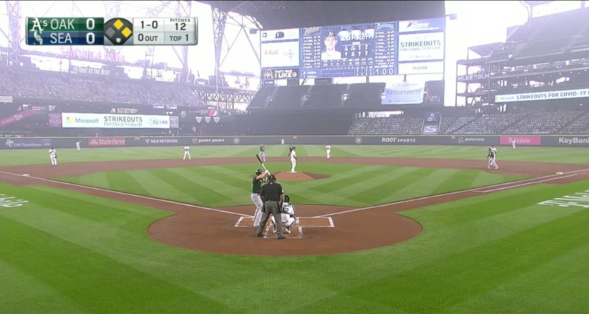 The Seattle Mariners' home games against the Oakland A's on Sept. 14 featured a lot of wildfire smoke.
