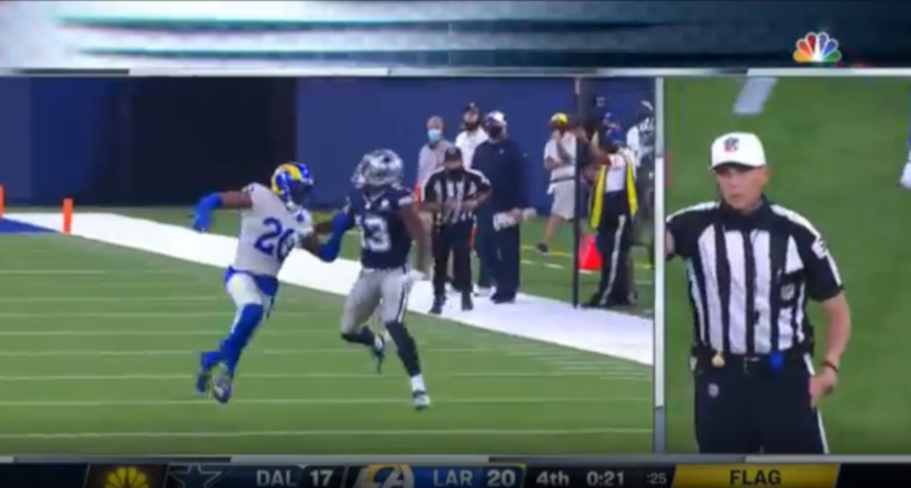The Cowboys' Michael Gallup was called for OPI here.