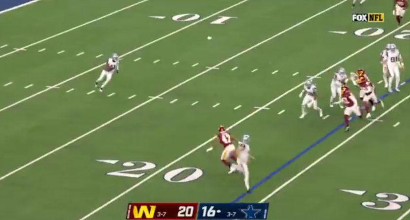 A failed Cowboys' fake punt.