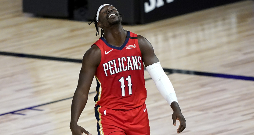 Jrue Holiday with the Pelicans.