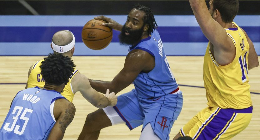 James Harden against the Lakers on Jan. 12.