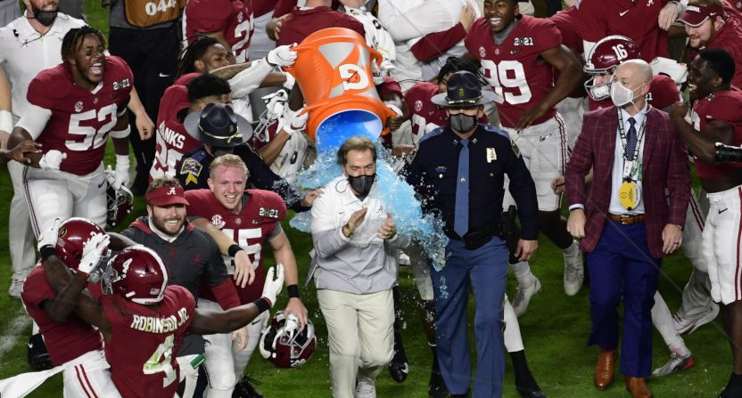 Nick Saban and Alabama won yet another national title Monday.