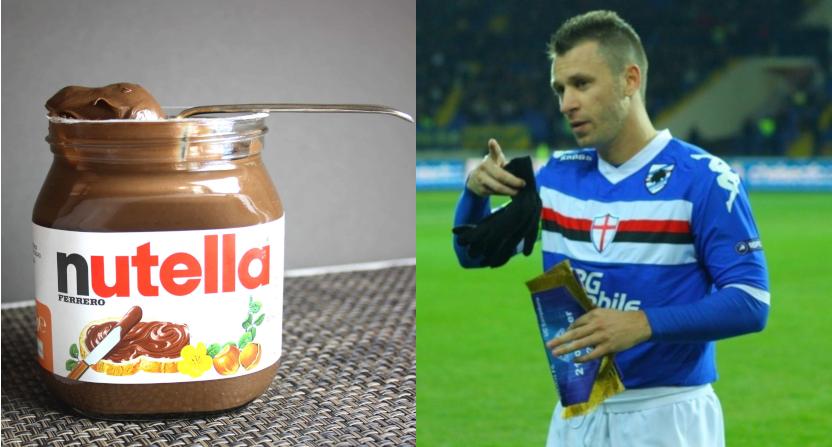 A Nutella jar and Antonio Cassano.