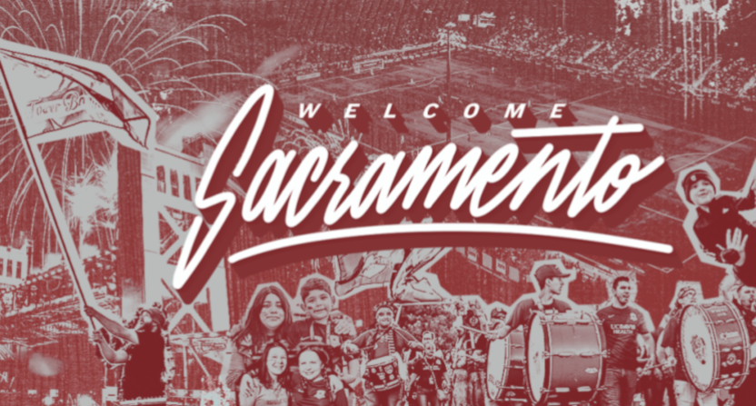 "MLS' ""Welcome Sacramento"" graphic from 2019."