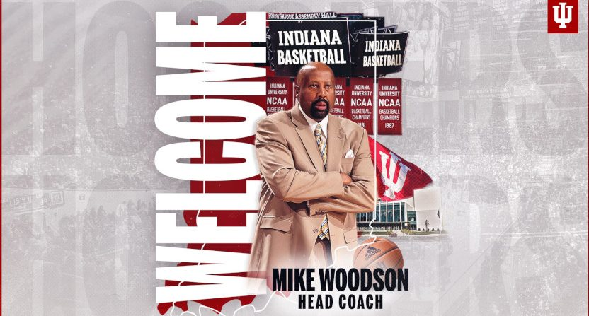 Mike Woodson was announced as Indiana's new head coach.