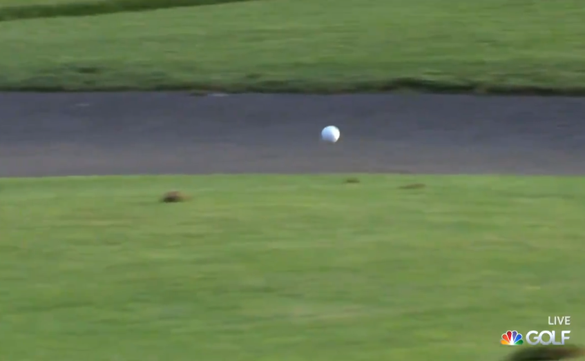 Golf ball rolls a hilariously long way at Western Intercollegiate