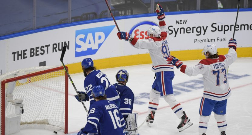 The Leafs lost to Corey Perry and the Canadiens.