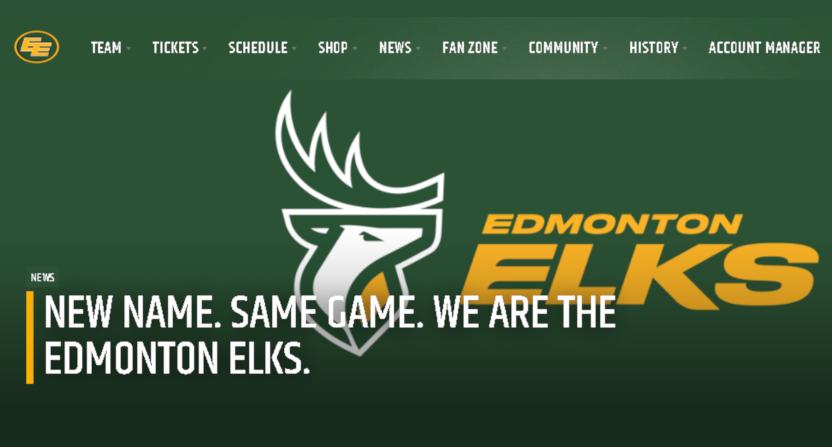 The new Edmonton Elks logo.