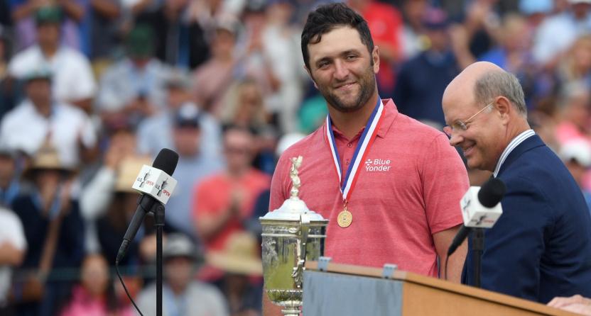 Jon Rahm after winning the U.S. Open.