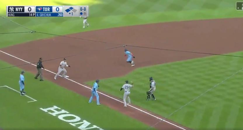 A Yankees' triple play.