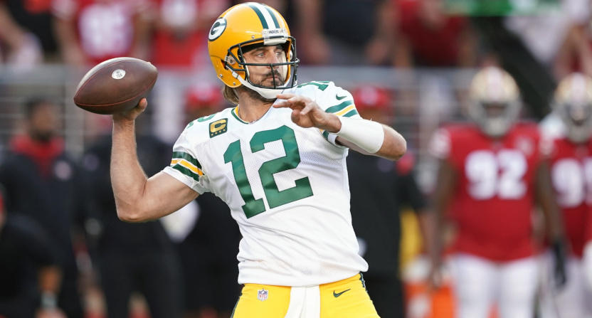 Aaron Rodgers against the 49ers.