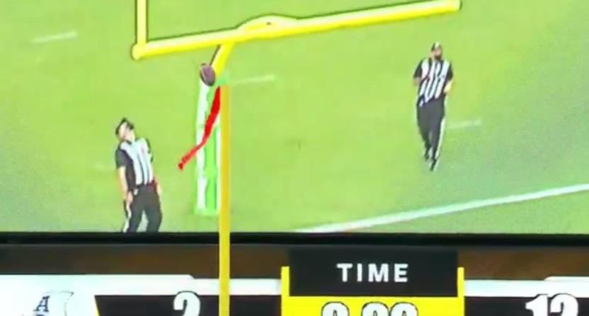 An Argonauts' field goal that was called good.