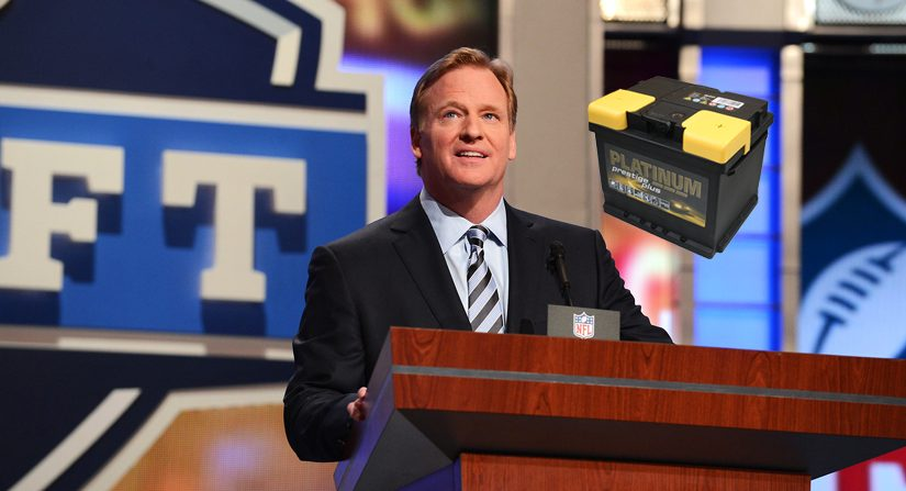 Image result for roger goodell announcing start of draft