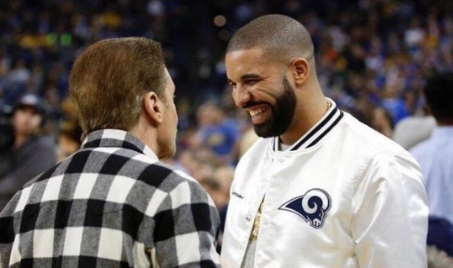 Widely shared photo of Drake wearing a Rams jacket is fake