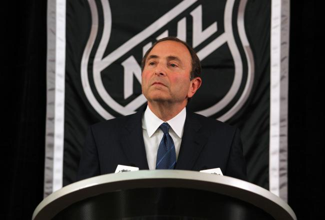 NHL commissioner Gary Bettman.