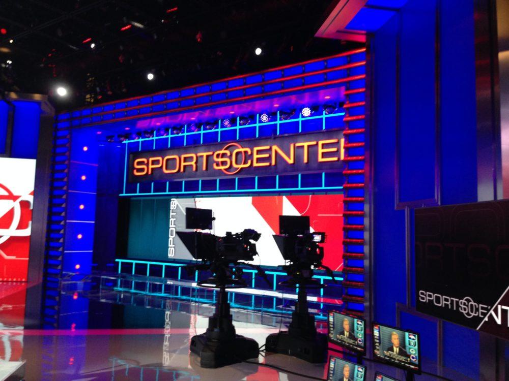 The SportsCenter set.