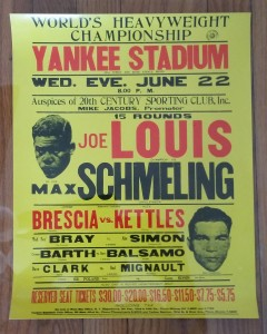 Poster-Joe Louis vs Max Schmeling (1)