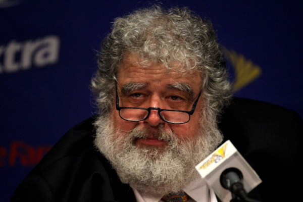 PASADENA, CA - JUNE 25:  General Secretary of CONCACAF Chuck Blazer gives a  press conference before the game between Mexico and the United States for the 2011 CONCACAF Gold Championship at the Rose Bowl on June 25, 2011 in Pasadena, California.  (Photo by Stephen Dunn/Getty Images)