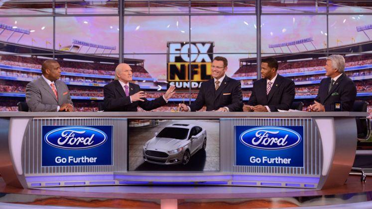 Fox NFL Sunday on set