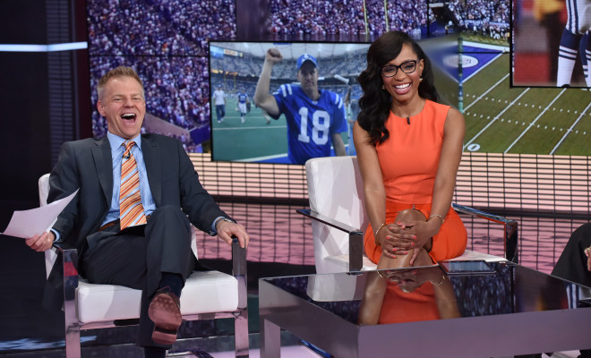 David Lloyd and Cari Champion