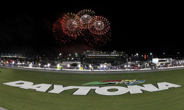 DAYTONA BEACH, FL - JULY 04:  Fireworks explode around the speedway after the finish of the NASCAR Sprint Cup Series 51st Annual Coke Zero 400 at Daytona International Speedway on July 4, 2009 in Daytona Beach, Florida.  (Photo by Streeter Lecka/Getty Images)