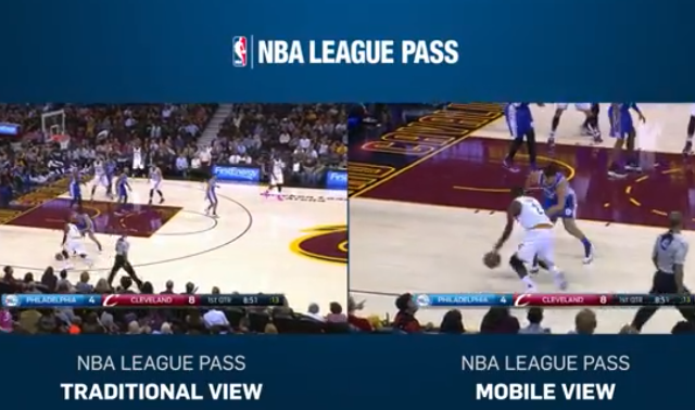 NBA Mobile View