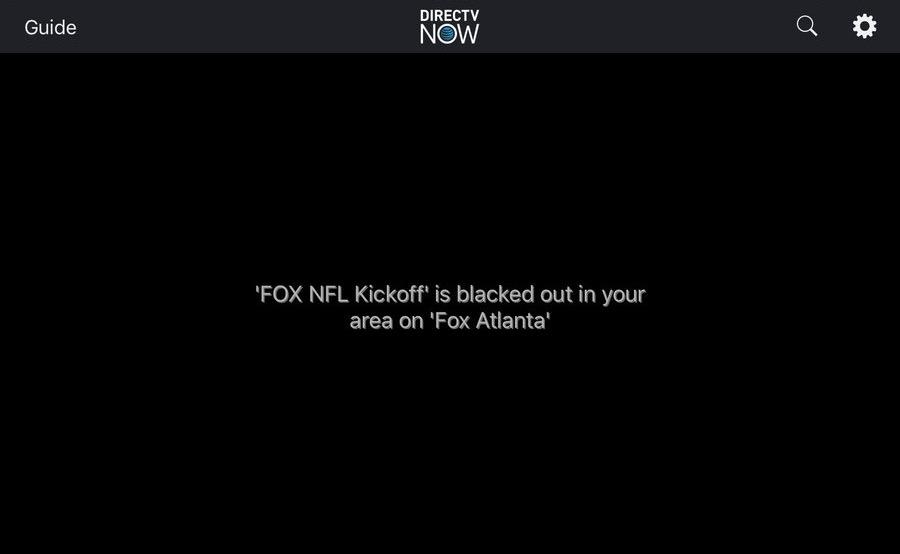 DirecTV Now NFL blackout