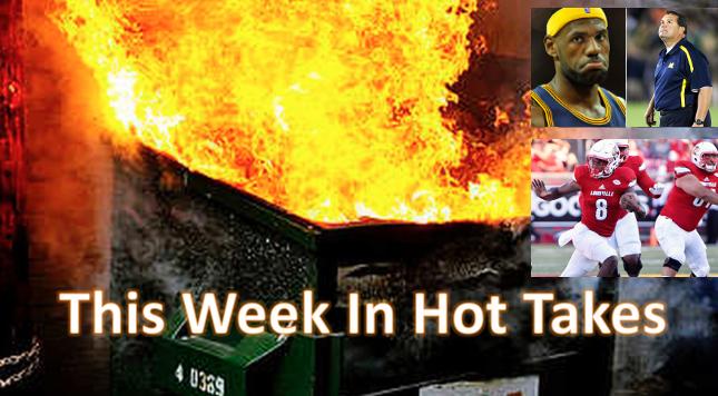 Hot Takes Dec 16 Lamar Jackson LeBron James Brady Hoke