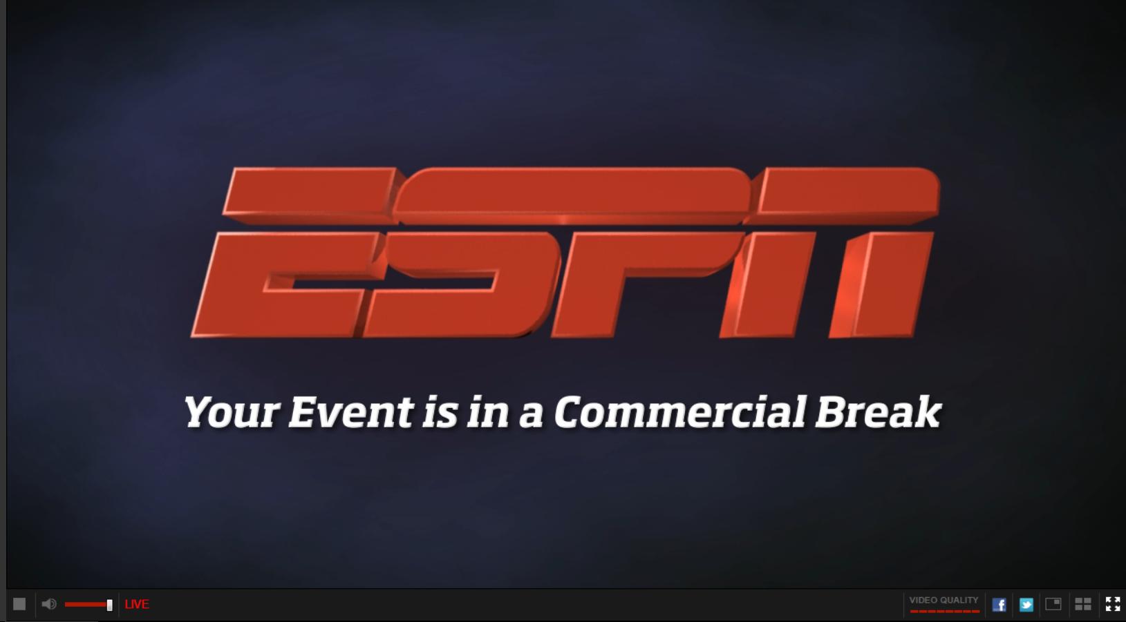 ESPN commercial break digital