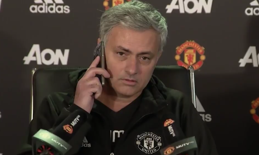 Jose Mourinho phone press conference
