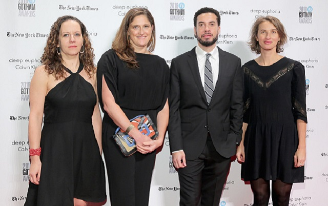 NEW YORK, NY - NOVEMBER 28: (L-R) Nina Krstic, Caroline Waterlow, Ezra Edelman, and Tamara Rosenberg attend IFP's 26th Annual Gotham Independent Film Awards at Cipriani, Wall Street on November 28, 2016 in New York City. (Photo by Jemal Countess/Getty Images for IFP)