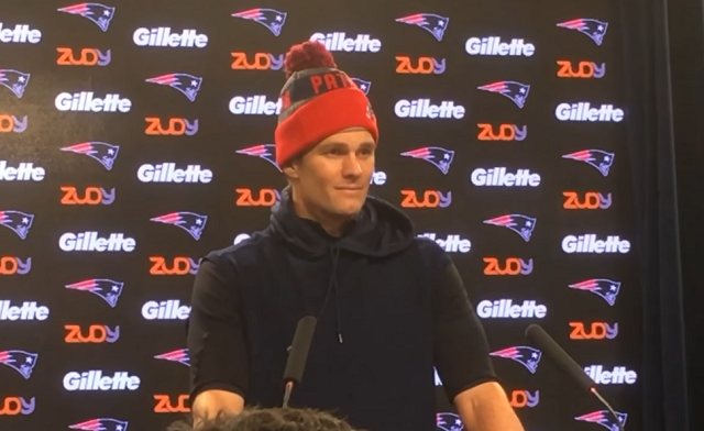 "Boston ""reporter"" asks Tom Brady an interesting question during press  conference 682ba155c76"