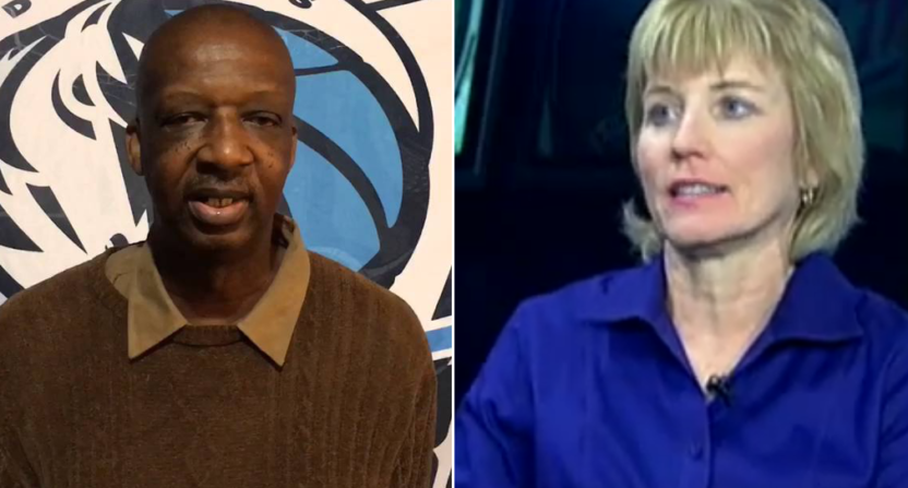 Dwain Price (L) and Chareen Williams were both laid off by the Fort Worth Star-Telegram.