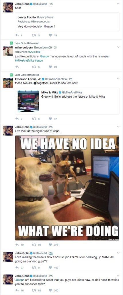 Jake Golic Tweets