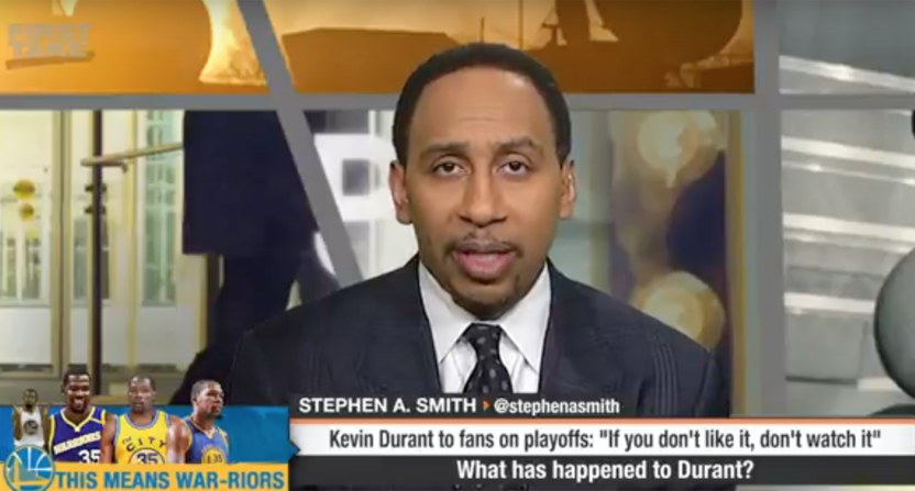 b5ee762543a4 Stephen A. Smith blasts Kevin Durant for getting  more arrogant  and ...